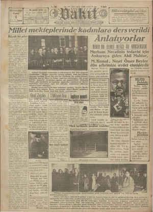 Vakit Gazetesi 4 Ocak 1929 kapağı