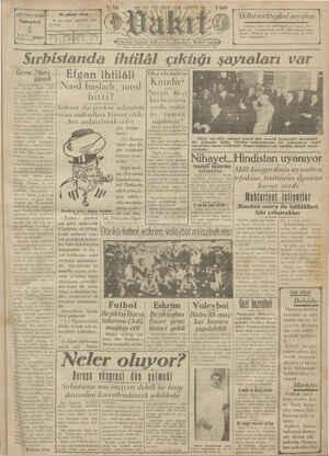 Vakit Gazetesi 5 Ocak 1929 kapağı