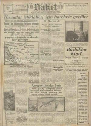 Vakit Gazetesi 6 Ocak 1929 kapağı