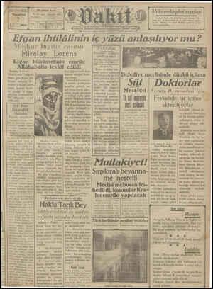 Vakit Gazetesi 7 Ocak 1929 kapağı