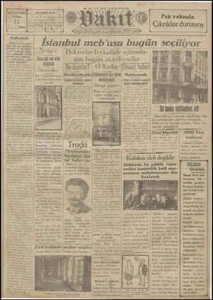 Vakit Gazetesi 11 Ocak 1929 kapağı