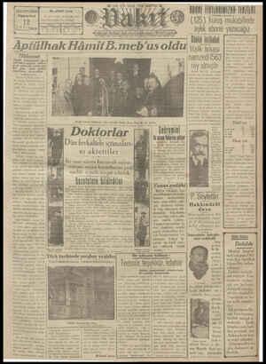 Vakit Gazetesi 12 Ocak 1929 kapağı
