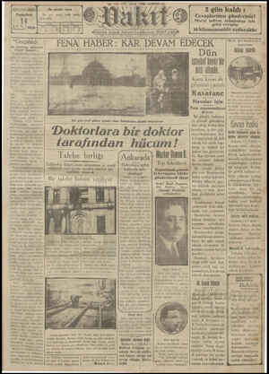 Vakit Gazetesi 14 Ocak 1929 kapağı