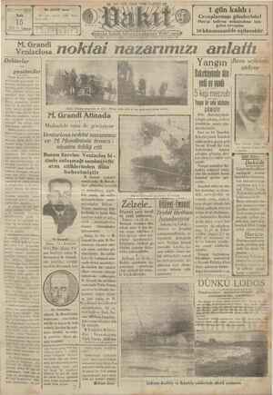 Vakit Gazetesi 15 Ocak 1929 kapağı