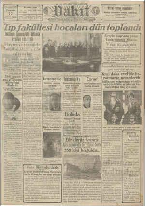 Vakit Gazetesi 17 Ocak 1929 kapağı