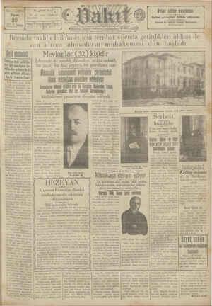 Vakit Gazetesi 20 Ocak 1929 kapağı