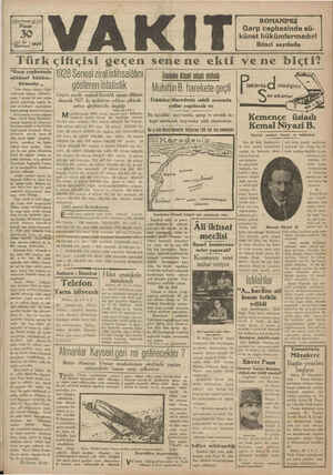 """1 gisetyilsayı 4119 Pazar 39 imei A: larin) 1929 simli """"Garp cephesinde sükünet hüküm- fcrmadır. ,, Vakıt dünden itibaren"""