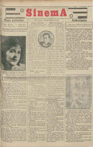 7. — VAKIT. — 22 Teşrinisani 1929 İstanbul sinemalarında Anketimiz ASRİ: Asri kazanova Harri Litke nin temsil ettiği bu