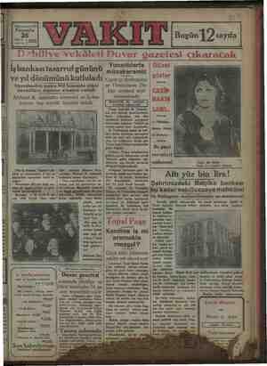 ZA anddünnündnü sof Bi embe ; i i 26 dei | 1929 Bugün 12 sayıfa İşbankası tasarruf gününü ve yıl dönümünü kutluladı...