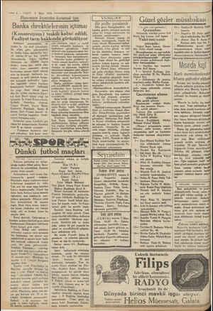 —— 6 — VAKIT 5 Mart 1930 - K Patamızın kıymetini korumak için me ml m me m m rm m Banka direktörlerinin içtimaı...