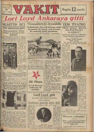 | b. 3D yal «sayı 4ğİİ Cumartesi 19 4 teri Nim > 4 1930 RM e kel Ban m ER MUHITTIN BEY Viyanalılara(2- ,Muhtelitimiz,...