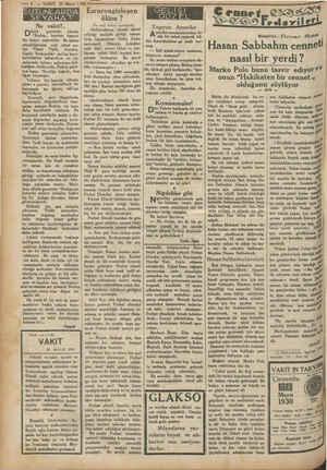 """— 4 — VAKIT 28 Mays i SÜTUNLARDA SEYAHAT Ne vakit?.. ünkü (O gazeteler (altında """"Rodop,, kaydını taşıyan bir haber..."""