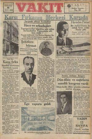 """13 4nct yal» sayı 452 Cumartesi Ni İstanbul merkezini Galatada ada açıyor Lider Fethi B. B.- intisap etmek"""" istiyenlerin"""