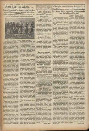 m —.. VAKIT 20 Ağustos 1930 - Ağrı dağı haydutları.. ——ç-——e—— Kış gelip soğuk'ar başlayınca haydut- ların ölüm mevsimi...