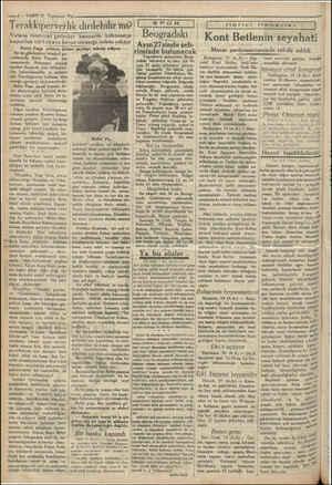 e —6 — VAKTT 21 Teşrinsani 1930 | Terakkiperverlik dirilebilir mi? Vatana maza rrat getirdiği kanaatile hükümetçe kapatılan