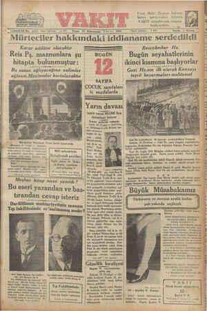 "rağ I4üncü Yıl No. 4697 Mürteciler hakkında! ""İdare telefonu: o 2.4370 Oo Pazar 25 Kânunsani (Linciay) 1931 Karar adilâne"