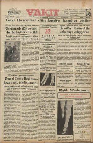 IğüncüYıl No. 4658 Idare telefonu; 2. 4870 Pazartesi Gazi Hazretleri dün ağ 26 Kânunsani (1 inci ay) didi) Ünü 1931 izmire