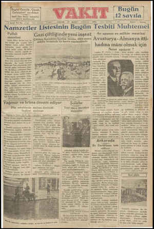 i Bugün (12 sayıfa Bugün Gençlik, Çocuk, Gelişigüzel sayıfaları Halit Ziya Beyin hatıraları 4lincü sayıfamızda 1931 Tehrir