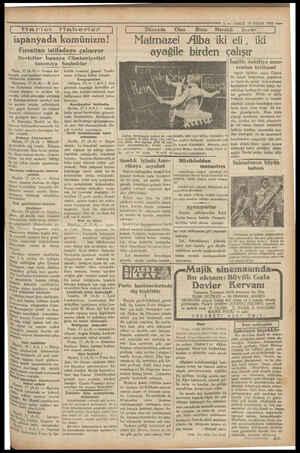   Harici Haberler İ ispanyada komünizm! Fırsattan istifadeye çalışıyor Devletler İspanya Cümhüriyetini tanımıya Paris, 17...