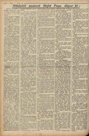 """ğ fmda """"kağ € (Üst tarafı 1 inci sayfada madığımı zannediyorum. Refet Pş. lâyiktır, Refet Ps. nın fikir ve kanaatleri..."""