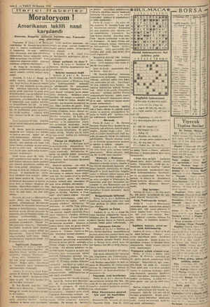 —6 — VAKIT 24 Haziran 1931 | Harici Haberler Moratoryom ! Amerikanın teklifi nasıl karşılandı Almanlar, Bulgarlar memnun,...