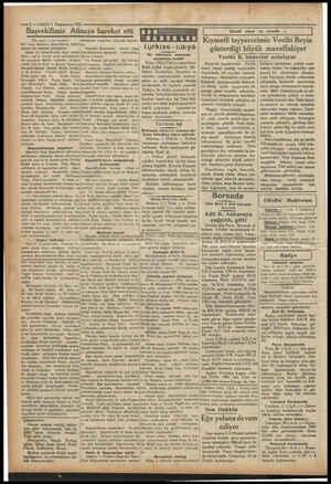 ——2—VAKIT2 Teşrinevvel 1931 Başvekilimiz Ati 1 (Öse tarafı 1 inci sayfada) Sör Corç Klârk'ın ziyaretlerin; kabul ederek bir