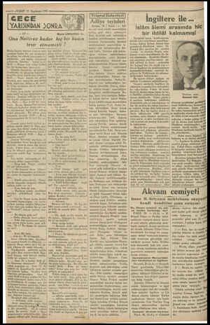 — 6 —VAKIT 27 Teşrinsani 1931 — mel Zin m | Moris Löblandan: fa. | Ona Nelliroz kadar hiç bir kadın i lesir etmemişli / Bütün