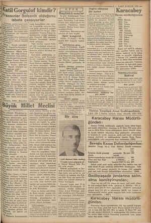 7 MP 5 İKatil Gorgulof kimdir? Tansızlar Bolşevik olduğunu . i 5 durnaj,, gazetesi hususi muha-  / Ürün, London'u, Fransız