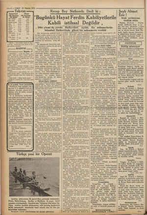 — 4 — VAKIT 25 Haziran 1932 Takvim Cumartesi Pazar 25 Haziran (26 Haziran 430 Gün batışı (9,45 1945 Sabah paması 335 334