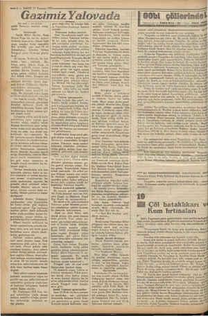 İN EŞ — 4 — VAKIT 17 Temmuz 1932. Gazimiz Yalovada Dedeağaç muallim i | İst tarahı 1 inci sayfada! yatile Yalovaya hareket