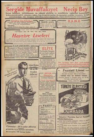12 Ağustos 1932 Sahife 12 İtriyat fabrikası müstahzaratı en yüksek ailelerin ve ecnebilerin tağbetini kazanmıştır....
