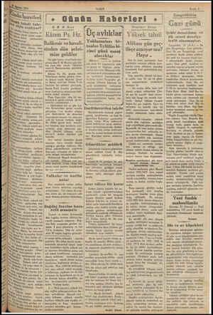ç tos 1937 yi tü, Dün İşaretleri! v ek tahsil İr çin azalıyor? pe, mm hesap yapmış, se- Yükyek, Yüzde yirmi nispe-   ml...