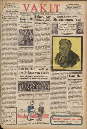 Bugünkü Nüshamızda Ahmet Rasim sayıfası Hayatı, eserleri, Vakıt diles! arasında bir resmi Çocuk sayıfası | 15 inci Yıl *