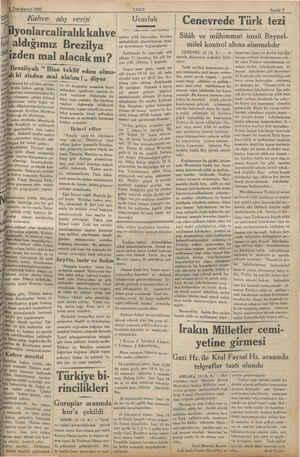 """ew gşekkül yoktur. Seşrini > el 1932 Kahve alış verişi aldığımız izden mal Brezilyalı """" Bize teklif - ı ki sizden mal i e..."""