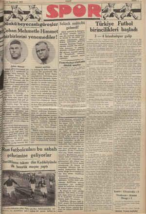 15 Teşrinievvel 1932 , Çoban Mehmet ik Balkan güreş turnuvasının şeh- 3 ve 5 teşrinisanide ya- mı haber vermiştik, Ro-...