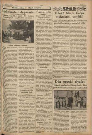BREAKER A 7 A erinin 1932, sani 1932, mize VAKIT Memleket Haberleri Aydın köylerinde pazarlar Yâğmur < au ima © Aydınm...