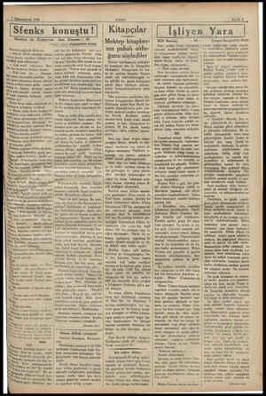——2 Kümunuervel 1932 Sfenks konuştu ! Maurice de Türl Kapının eşiğinde Roberts: — Haydi Allah rahatlık versin, Yarına kadar