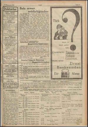 Sİ < ek ei İ dedesi No 26 Tel e 9 Künenuevvel 1932 VAKTI Doktorlar | Doktor - Operatör Ahmet Asım Doğum ve kadı hastalıkları