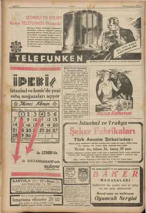 VAKII 76 Kânunuevvel 1932 Bilhassa Super heterodin Telefunken ahizesinin kullanışı tasavvur edilmez derecede basittir. Tek