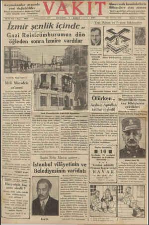 Almanyada komünistlerin Hitlercilere ateş açması Yeni başvekil için nümayiş yapanlara komünistler silâhla mukabele ettiler..