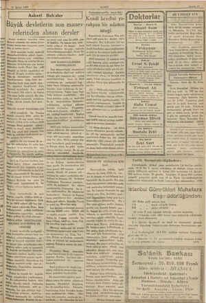 İLMİ Şubat 1933 k akin Bahisler Bl Büyük devletlerin so n manev- relerinden alınan dersler PATİ Xveelce Avustürya Macaristan