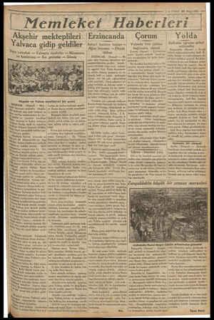 İİ m e ag ya yg yy yg yy yy yy mm Vİ Myey 7 — VAKIT 22 Mayıs 1933 — yy yy yg pa ag Memleket Haberleri ör Yalvaca gidip...