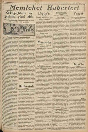 gir sem — 7 — VAKIT 23 Mayıs 1933 — LL Lİ İYİ LTE emleket Haberleri a ayl ye ŞA e MM m e ez yy ya yy yg yg gg Kırkağaçlıların