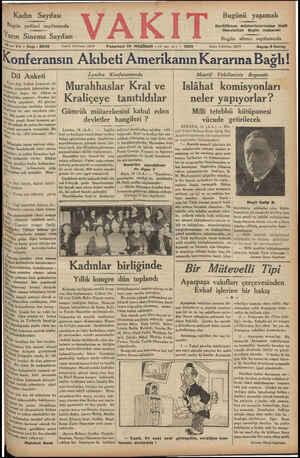 KN Kadın Sayıfa sı Bugün yedinci sayıfamızda Yarın Sinema Sayıfası © mi nl np SM Bugünü yaşamak Darülfünun müderrislerinden