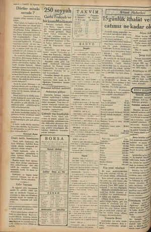 """— * —ğ4— VAKIT 9 Ağustos 1933 Dörtler misakı 750 Seypih"""" nerede ? , Garbi Trakyalı ve Başmakeleden — """" İbirkısmıMüzlüman"""
