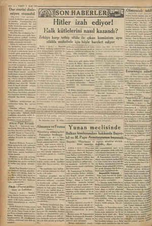 © Bu haber üzerine Alâaddin Bey   © şam Milli İktisat ve Tasarruf Ce - per MP © o — 22 VAKT 2 Eylül 1933 Dur emrini dinle.