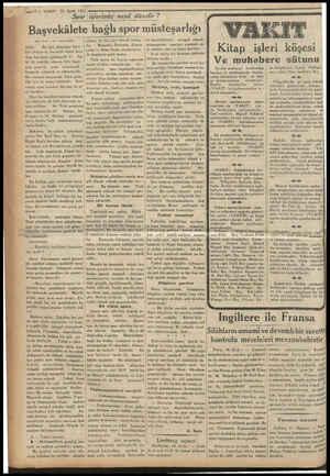 m na — 10 — VAKIT 19 Eylül 1933 Spor işlerimiz nasıl düzelir ? . bağlı spor müsteşarlığı Ulay Kurufa 0 İnci sayafamızda)...