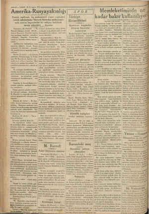 KADEŞ —10 — VAKIT 23 B. teşrin 1933 Amerika-Rusyayakınlığı   Ecnebi matbuatı bu mukareneti siyasi cepheden tetkik ederlerken: