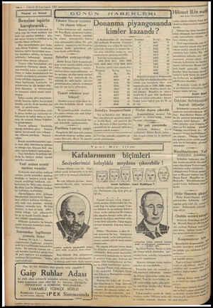 My EŞ AY ENE ANİMA SD Eyy — 4 — VAKLI 20 2.nci teşrin 1933 — e aaa dil FANİ SEA EARNRNLEI Ticaret ve iktısat ü er raN!...