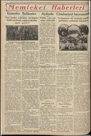 "— 6 — VAKIT 22 2.nci teşrin 1933 MM EŞ a yy yg yy emleket Haberleri ""amet yy yg yg Ayyy gg yg ka nik b huriyet bayramın..."